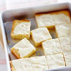 White Chocolate Brownies made with crunchy macadamia nuts! Get the recipe here: http://www.bhg.com/recipe/chocolate/white-chocolate-brownies/?socsrc=bhgpin042312whitechocolatebrownies