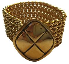 a09135c03c9 Chanel Chanel Vintage Gold Chain Bracelet with Quilted Pendant Gold Chain  With Pendant