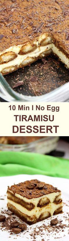 Easy Tiramisu Dessert Recipe If you like simple, light dessert, which are also no bake and easy to make, you will love Easy Tiramisu Dessert Recipe.