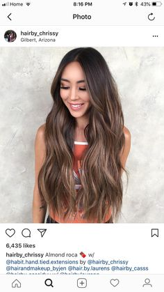 Long Wavy Ash-Brown Balayage - 20 Light Brown Hair Color Ideas for Your New Look - The Trending Hairstyle Brown Hair Balayage, Hair Highlights, Ombre Hair, Light Brown Hair, Dark Hair, Hair Inspo, Hair Inspiration, Chocolate Brown Hair, Hair Flip