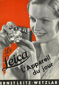 Publicité Leica Leica... il est plutôt devenu l'appareil du XXe siècle.