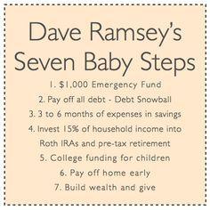 dave ramseys seven baby steps
