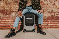 Image by Zack Rawles feat. Toiletry Bag, Carry On, Leather Bag, Mom Jeans, Overalls, Silver, Image, Fashion, Moda