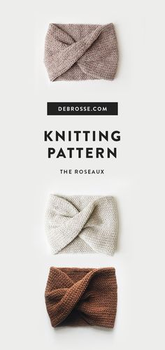 KNIT ⨯ The Roseaux - Knitting for beginners,Knitting patterns,Knitting projects,Knitting cowl,Knitting blanket Easy Knitting Patterns, Hand Knitting, Crochet Patterns, Simple Knitting, Knitting Ideas, Easy Knitting Projects, Easy Patterns, Christmas Knitting Patterns, Knit Headband Pattern