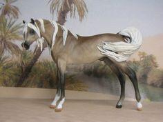 Custom Breyer Peter Stone Horse Chips Arabian by L. Elkjer