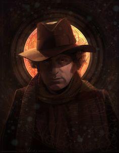 """""""I walk in eternity""""   Brilliant fan made #DoctorWho Tom Baker art!"""
