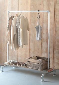 vintage industrial clothes rail/salvage/scaffold/LNDN in Antiques, Antique Furniture, Other Antique Furniture | eBay!