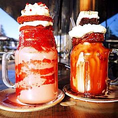 Two of our glowing flowing stars .. @patissez #Canberra#milkshakes#desserts#travel#FreakShakes#Australia#foodporn#