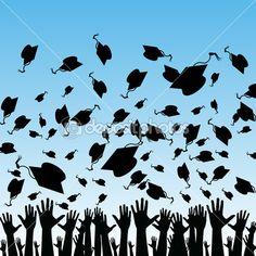 Estudiantes que se gradúan — Ilustración de stock #3993840