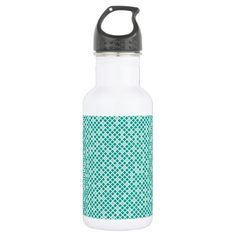 Diamonds  Arcadia Teal Stainless Steel Water Bottle - pattern sample design template diy cyo customize