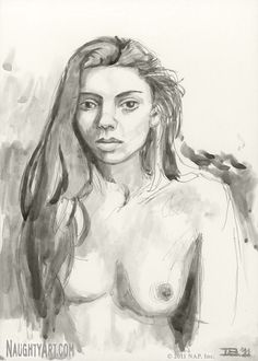 View figure drawings by Irvin Bomb of the sensual Ukrainian art model Roxy Smile. The fine art of rendering the nude female form in black & white. Life Drawing, Figure Drawing, Ukrainian Art, Art Model, Roxy, Figurative, Sketches, Smile, Watercolor