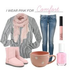 """""""I Wear Pink For..."""" by qtpiekelso on Polyvore"""