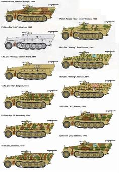 Dragon Sd.Kfz.251 series Military Paint, Military Armor, Camouflage Colors, Camouflage Patterns, German Soldiers Ww2, German Army, Army Vehicles, Armored Vehicles, Model Tanks