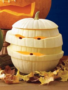 Need inspiration for your Jack-O-Lantern? Whether you want to carve, paint or decorate it, we've got the Best Pumpkin Decorating Ideas! Awesome Pumpkin Carvings, Easy Pumpkin Carving, Pumpkin Carving Patterns, Pumpkin Art, Pumpkin Ideas, Spooky Pumpkin, Easy Pumpkin Designs, Pumpkin Mummy, Pumpkin Painting