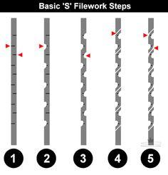 Resultado de imagem para knife file work patterns