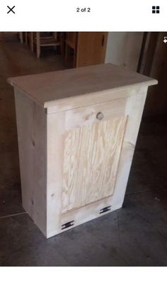 Unfinished may need sanding 31 x 13 x 23 Mahogany Stain, Oak Stain, Wood Trash Can Holder, Wood Laundry Hamper, Trash Can Cabinet, Boys Bedroom Furniture, Kitchen Trash Cans, Nails And Screws, Garbage Can