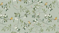Nacre Botanicals Brand Identity & Pattern Illustration Design Nacre Botanicals is a collection of small-batch, handcrafted wellness products born of a love. Accent Wallpaper, Print Wallpaper, Pattern Wallpaper, Pattern Illustration, Botanical Illustration, Nature Iphone Wallpaper, Cute Tumblr Wallpaper, Flower Pattern Design, Chinoiserie Wallpaper