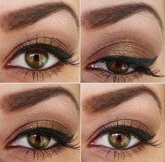 Brown smokey eyes - my favorite kind of eye look. Too bad I can't seem to have the patience to learn to apply the look on myself.