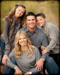 family of four poses for pictures - Google Search