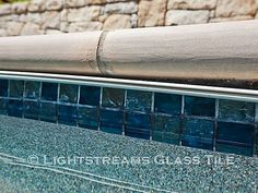 Gallery #43 | lightstreams Swimming Pool Tiles, Swimming Pools Backyard, Pool Spa, Waterline Pool Tile, Glass Pool Tile, Rectangle Pool, Pool Finishes, Pool Remodel, Backyard Makeover