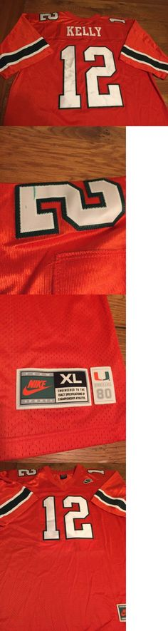 Other Football Clothing and Accs 74676: Nike Jim Kelly Sewn Jersey Miami Hurricanes Throwback Orange Xl -> BUY IT NOW ONLY: $42.46 on eBay!