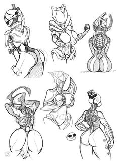 Character Art, Character Design, Halo Armor, Female Monster, Warframe Art, Creature Drawings, Sexy Drawings, Art Reference, Comic Art