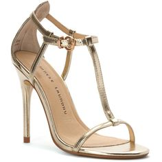 Chinese Laundry Women's Leo Sandal Sandals ($84) ❤ liked on Polyvore featuring shoes, sandals, sapatos, heels, light gold, chinese laundry shoes, chinese laundry sandals, patent leather stilettos, heels stilettos and patent sandals