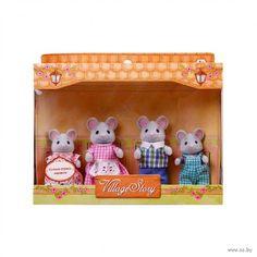 """Игровой набор """"Семья серых мышек"""" (4 фигурки)"""