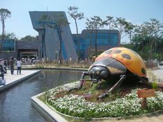 """What is an """"insect expo"""" in Korea, you ask. Well, imagine a sprawling festival site featuring huge sculptures of dung beetles and ladybugs."""