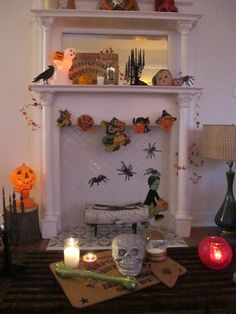 my living room needs a mantel if only for decorating halloween mantel by devotedsatellite