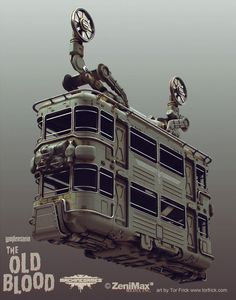 Wolfenstein: Old Blood Cablecar, Tor Frick on ArtStation at https://www.artstation.com/artwork/wolfenstein-old-blood-cablecar