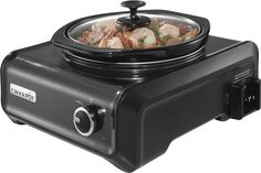 Crock-Pot - 2-Quart Double Slow Cooker - Charcoal (Grey), SCCPMD2-CH