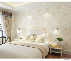 德爾菲諾牆紙 無紡布壁紙 歐式田園壁紙 適用臥室客廳電視背景牆-淘寶網