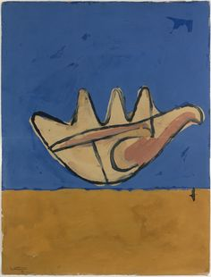 La Main Ouverte (The open hand), 1950; Gouache on paper (63.5 x 48.3 cm). Signed and dated on the bottom left-hand corner: Le Corbusier