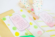 Oh So Beautiful Paper: Watercolor Popsicle Birthday Party Invitations
