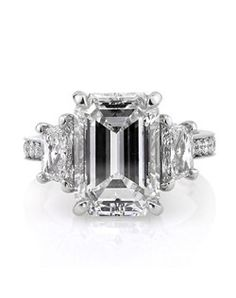 This remarkable emerald cut diamond ring is one of a kind and breathtaking! It is by far one of the most astonishing emerald cut diamonds yo...