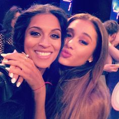 Lilly with Ariana Grande!! I'm so amazed that Lilly met her!! I love both of them soooo much! #Unicorn #Arianator