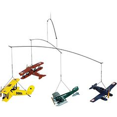 $63.75 Airplane Nursery Mobile, Airplane Nursery Decor, Airplane Themed Nursery, Vintage Airplane Nursery, Affiliate Link.
