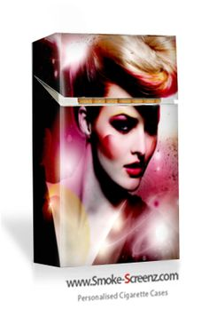 Glamour shot on a cigarette case - anything is possible at Smoke Screenz