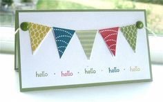 Petite Pennants Builder punch and Pennant Parade stamp set. SU stampin' up