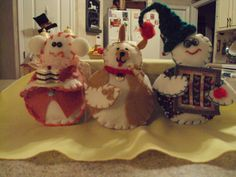 These are my snowmen. I have made 100's of these over the past few years