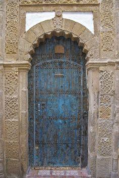 Blue Door with Stone Surround, Peter Cook UK