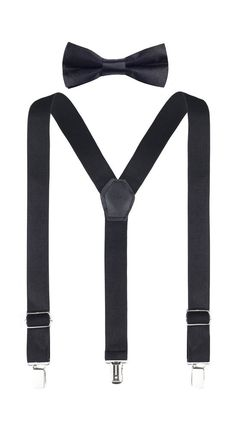 0672bbb560a Lilax Boys Solid Color Adjustable Elastic Suspender & Bow Tie for Kids  and Baby #