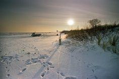 Sonnenuntergang am Usedomer Strand im Winter