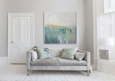 GREEN ABSTRACT painting Giclee Fine Art Print by LolaDonoghue, $125.00