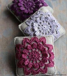 ergahandmade: Crochet Pincushion + Diagrams
