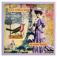 Live With a Song in Your Heart 8x8 Collage Canvas Wall Art -- Check this awesome product by going to the link at the image.