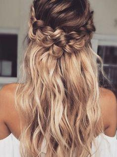 Strawberry blonde braided crown