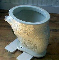 marinni | Как и во что ходили в туалет. Продолжение. Very fancy porcelain toilet dating from the 1880s