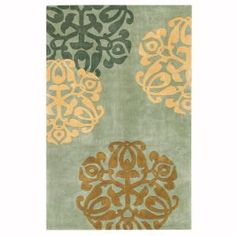 Home Decorators Collection Chadwick Lite Green and Gold 5 ft. x 8 ft. Area Rug-0006115310 at The Home Depot